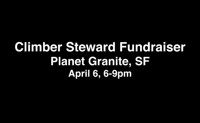 CLIMBER STEWARD EVENT – San Francisco 4/6/2017